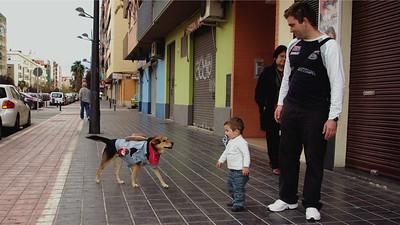 maddie, costume, offleash  walk,  children, valencia, spain