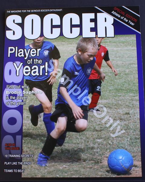8X10 MAGIZINE COVER w/action shot **2010 season will have Individual still shot printed**