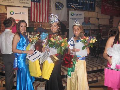 From the left to the right: Edina Halilovic - second runner-up - Phoenix, Arizona, Emina Graskovic - Miss USA - Atlanta, Georgia Hanifa Jasarevic - runner-up - St Louis, Missouri