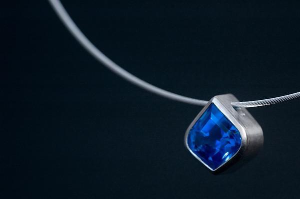 Archana •Blue Topaz Pendant