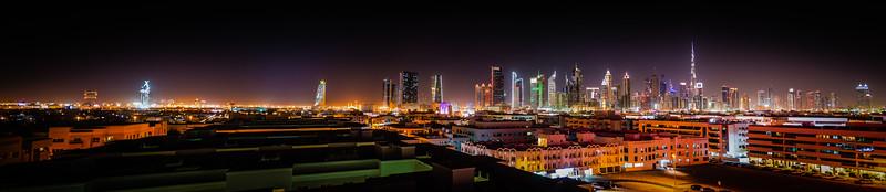 Dubai from the roof of the hotel Ramada Jumeirah