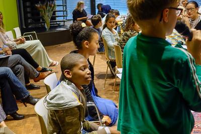 Nederland, Amsterdam, 30 juni 2017, presentatie  van het pilotproject 'aankomst in mijn buurt' van de JP Coenschool in het Tropenmuseum, foto: Katrien Mulder