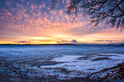 Winter sunset