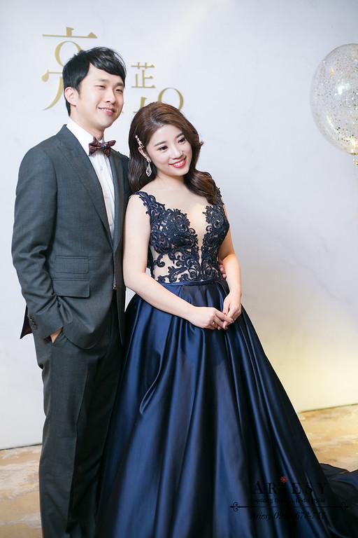 愛瑞思,ariesy,新娘秘書,新秘,藍色禮服造型,時尚名媛造型
