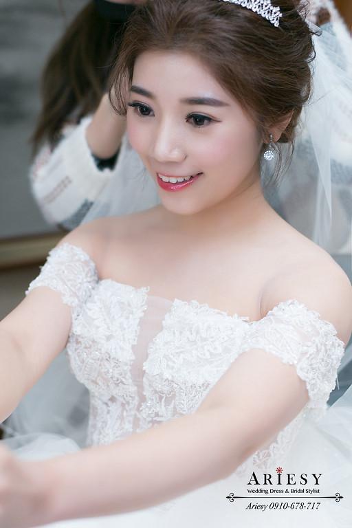 愛瑞思,ariesy,新娘秘書,新秘,新娘造型,白紗造型,水晶皇冠造型