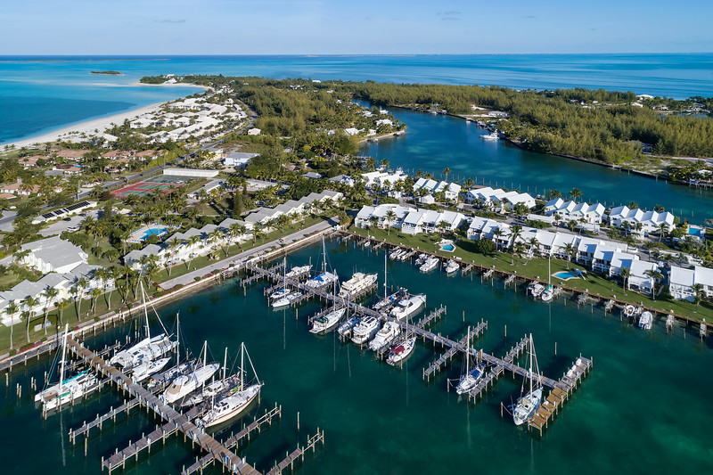 Treasure Cay Marina Aerial View 3