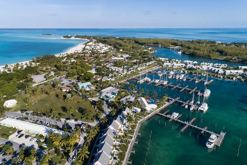 Treasure Cay Marina Aerial View 2