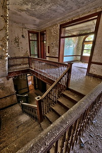 Staircase of an abandoned Asylum in MA