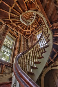 Abandoned Convent Spiral Staircase NY 1