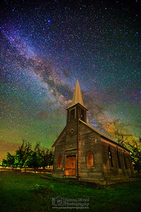 """Forgotten Prayers,"" the Milky Way over an Abandoned Church Oregon, United States"