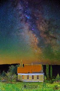 """Oblivion,"" Milky Way over the Simnasho Presbyterian Church, Oregon"