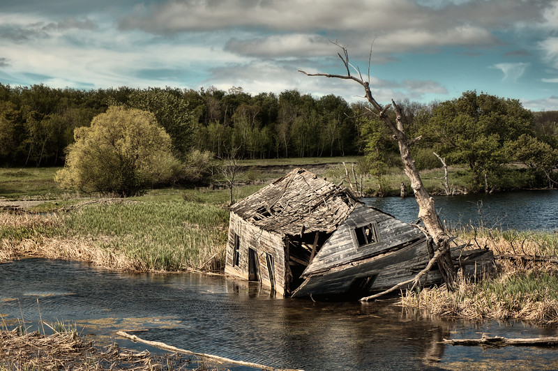 Abandoned House in Swamp - Manitoba