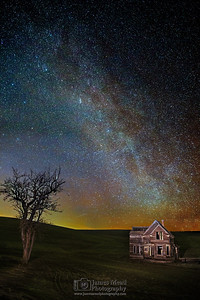 """Ghost House,"" The Milky Way over the Charles E Nelson House, Wasco County, Oregon"