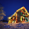 Abandoned House with Christmas Lights - Lakelands, Nova Scotia