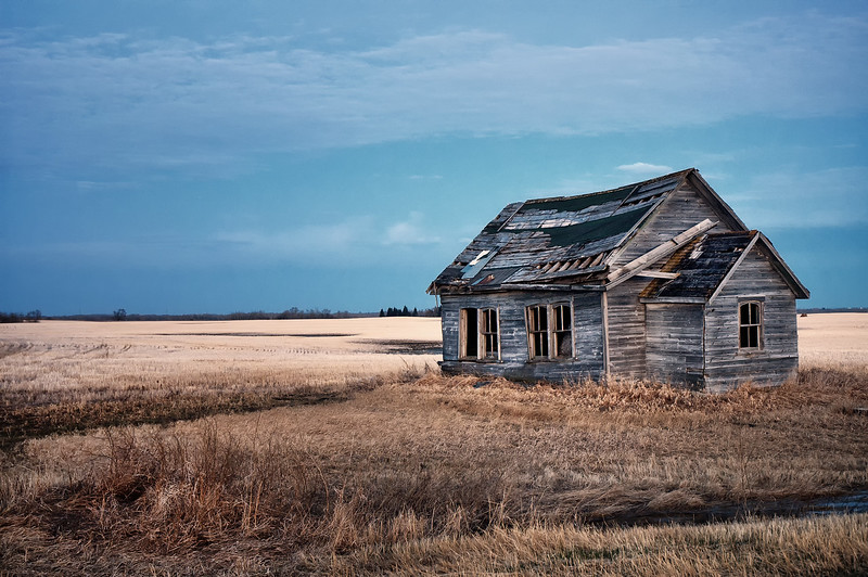 Abandoned One-Room Schoolhouse (Gourlay School) - Brandon, Manitoba