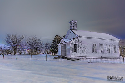 """Whiteout,"" Petersburg Schoolhouse, Wasco County, Oregon"