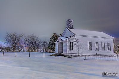 """Whiteout,"" Petersburg Schoolhouse, Wasco County, Oregon"