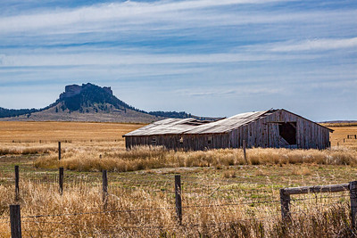 Abandoned Barn #59 And Crow Butte