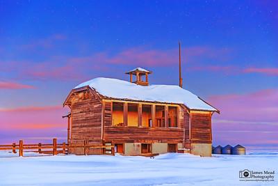 """""""Winter's Dream,"""" Center Ridge Schoolhouse,  Wasco County, Oregon"""