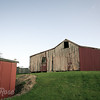 Back of old red barn