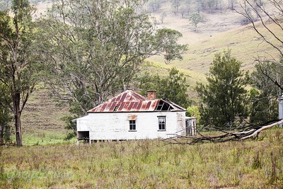 Grand lady missing some roof , Allen River Rd