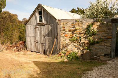 Barn and Wall , Hawley House North East , Tasmania