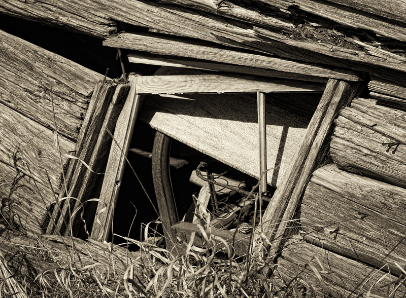 Collapsed building. Gould City, MI - March, 2012