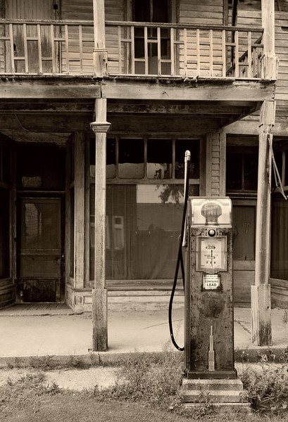 Abandoned store and gas station at Kilmanaugh, MI.  2010