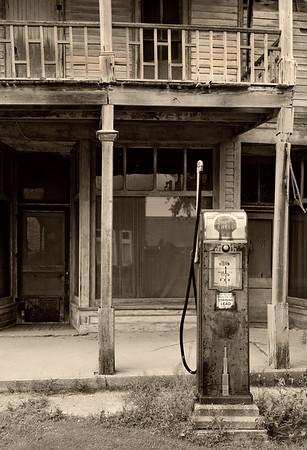 Abandoned store and gas station at Kilmanaugh, MI.  2010