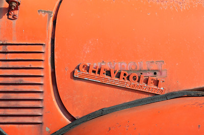 An Old Chevy Loadmaster Truck, still working.  At the fishing docks, Naubinway, MI  -  March, 2012