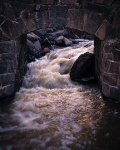 Stone bridge, Cascade River, Minnesota