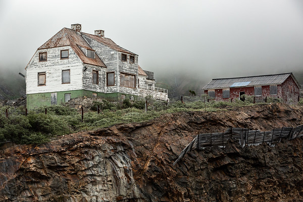 Ivittuut Abandoned mine in Greenland. Once the only source of natural cryolite in the world.  Heyday was in the early 1900s and during the second world war.