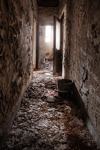 hallway to ladies room