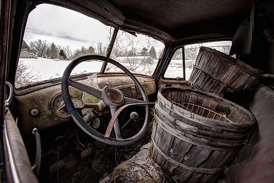 chevrolet truck, inside out