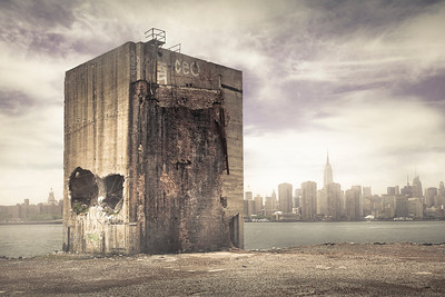 Warehouse ruins, Brooklyn waterfront