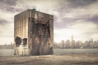 Warehouse ruins, Brooklyn waterfront