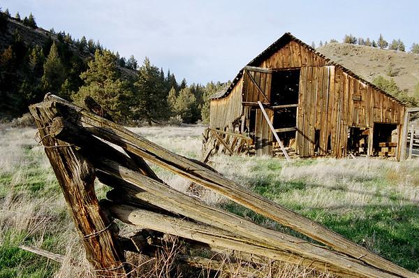 Barn & Fence.