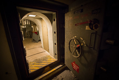 This massive blast door would seal off the bunker from all the violence happening outside.