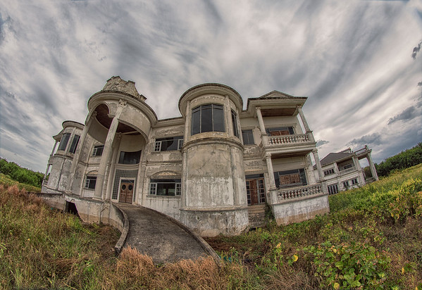 an abandoned mansion, nakhon pathom, central thailand