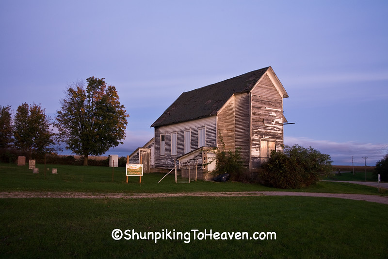 Dawn at Dayton Corners Church,  Richland County, Wisconsin