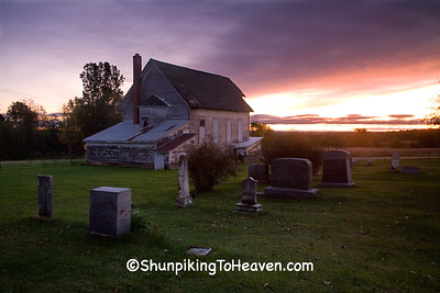 Sunrise at Dayton Corners Church and Cemetery,  Richland County, Wisconsin