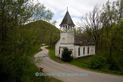 Abandoned Church with Decorative Bell Tower, Crawford County, Wisconsin