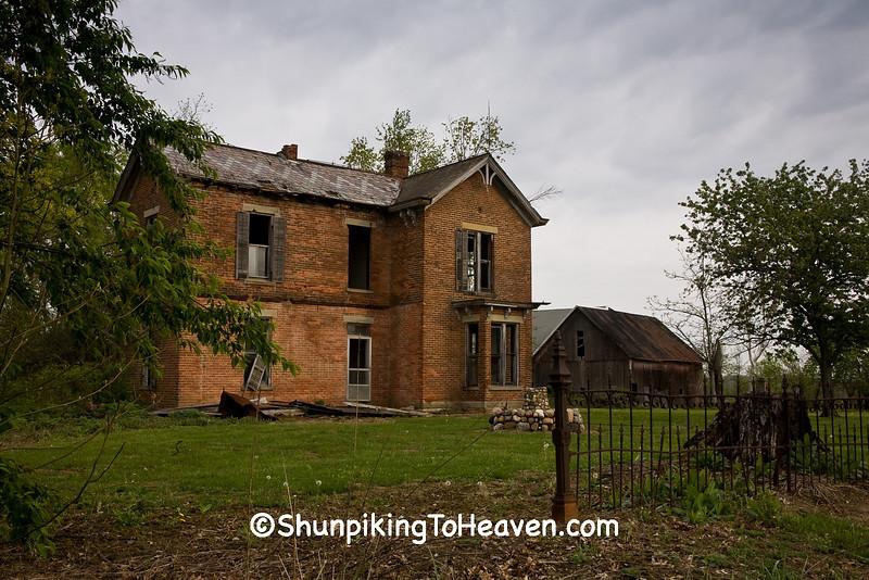 Abandoned Brick House, Highland County, Ohio