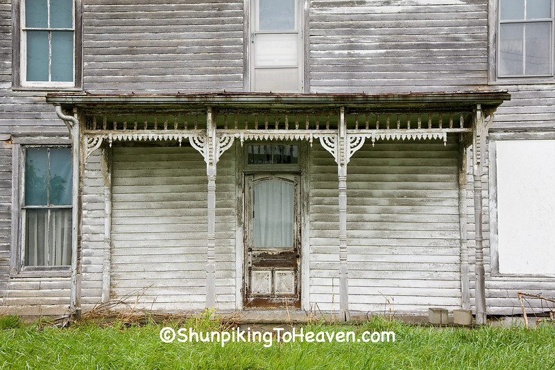 Decorative Porch of Abandoned Farmhouse, Brown County, Ohio