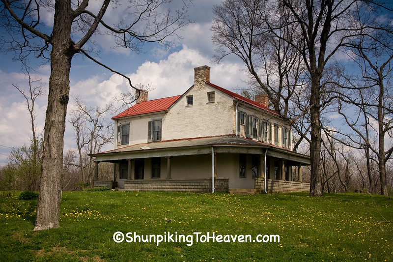 Abandoned House on the Hill, Wayne County, Indiana
