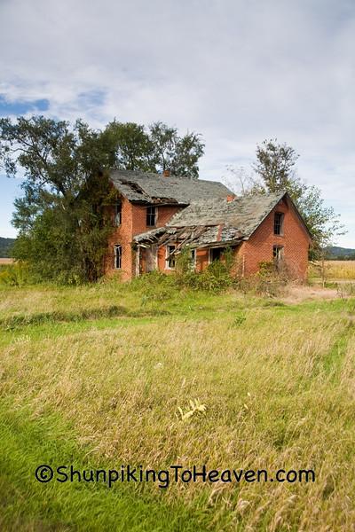 Abandoned Brick House, Trempealeau County, Wisconsin