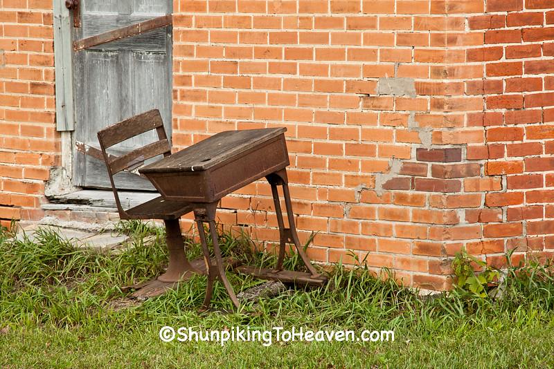 Antique School Desk, Jackson County, Wisconsin