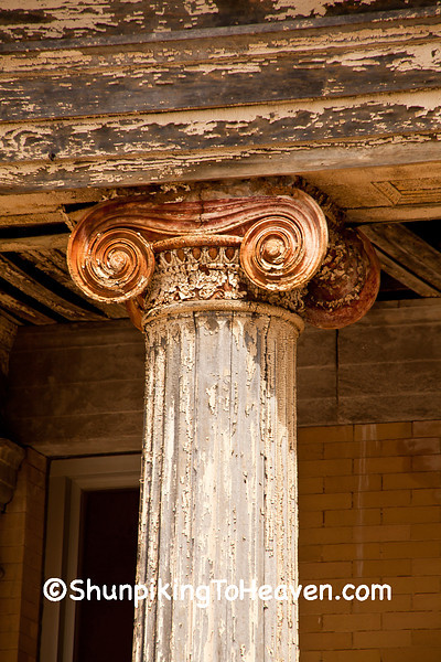 Ionic Column of Congress School, 1867, Polo, Illinois