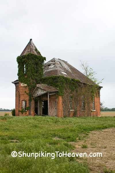 Abandoned Brick School, Clay County, Indiana