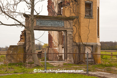 Washington Township Public School Ruins,  Rush County, Indiana